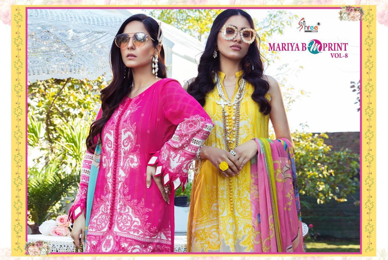 Shree Fabs Mariya B MPrint Vol 8 Salwar Suit Wholesale Catalog 9 Pcs 19 - Shree Fabs Mariya B MPrint Vol 8 Salwar Suit Wholesale Catalog 9 Pcs
