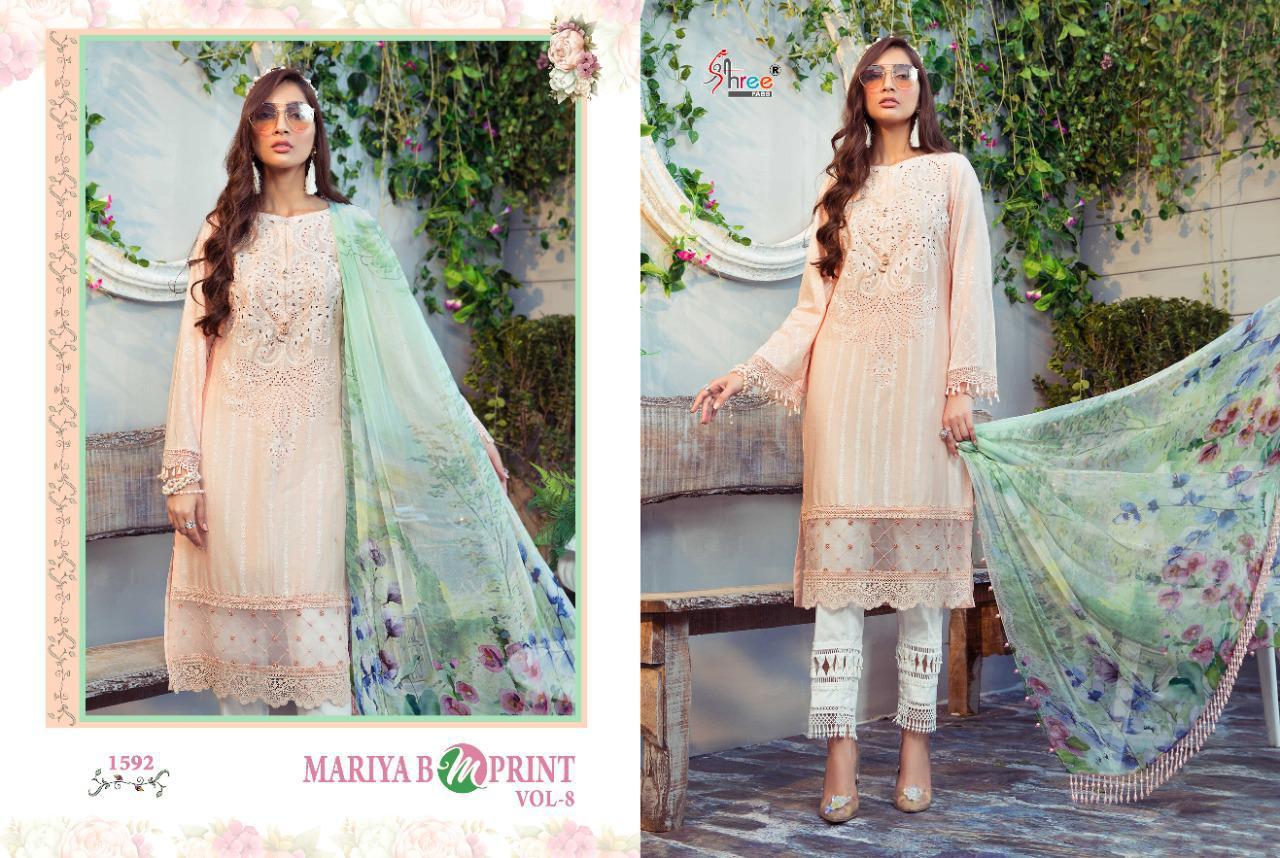 Shree Fabs Mariya B MPrint Vol 8 Salwar Suit Wholesale Catalog 9 Pcs 8 - Shree Fabs Mariya B MPrint Vol 8 Salwar Suit Wholesale Catalog 9 Pcs