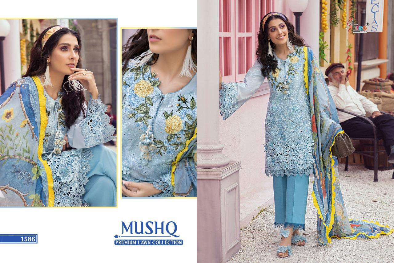 Shree Fabs Mushq Premium Lawn Collection Salwar Suit Wholesale Catalog 5 Pcs 10 - Shree Fabs Mushq Premium Lawn Collection Salwar Suit Wholesale Catalog 5 Pcs