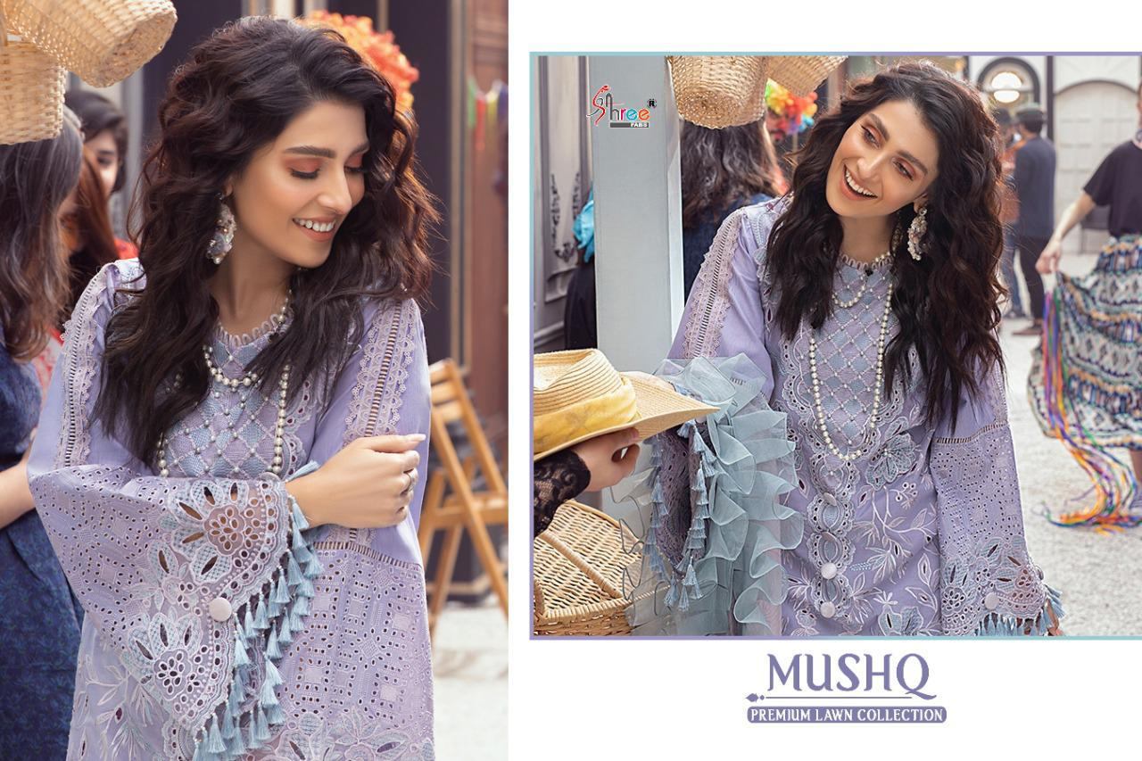 Shree Fabs Mushq Premium Lawn Collection Salwar Suit Wholesale Catalog 5 Pcs 11 - Shree Fabs Mushq Premium Lawn Collection Salwar Suit Wholesale Catalog 5 Pcs