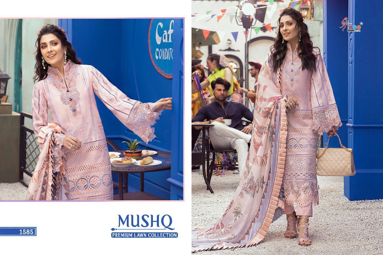 Shree Fabs Mushq Premium Lawn Collection Salwar Suit Wholesale Catalog 5 Pcs 2 - Shree Fabs Mushq Premium Lawn Collection Salwar Suit Wholesale Catalog 5 Pcs