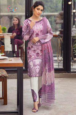 Shree Fabs Mushq Premium Lawn Collection Salwar Suit Wholesale Catalog 5 Pcs