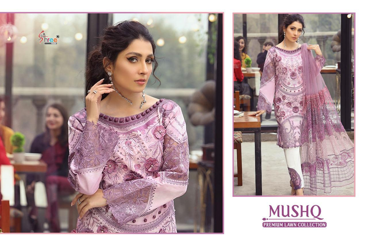 Shree Fabs Mushq Premium Lawn Collection Salwar Suit Wholesale Catalog 5 Pcs 5 - Shree Fabs Mushq Premium Lawn Collection Salwar Suit Wholesale Catalog 5 Pcs