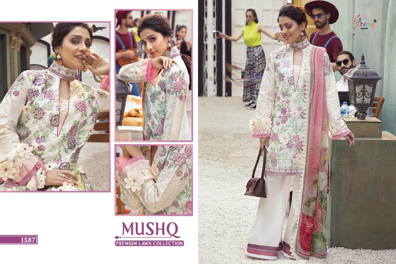 Shree Fabs Mushq Premium Lawn Collection Salwar Suit Wholesale Catalog 5 Pcs 6 - Shree Fabs Mushq Premium Lawn Collection Salwar Suit Wholesale Catalog 5 Pcs