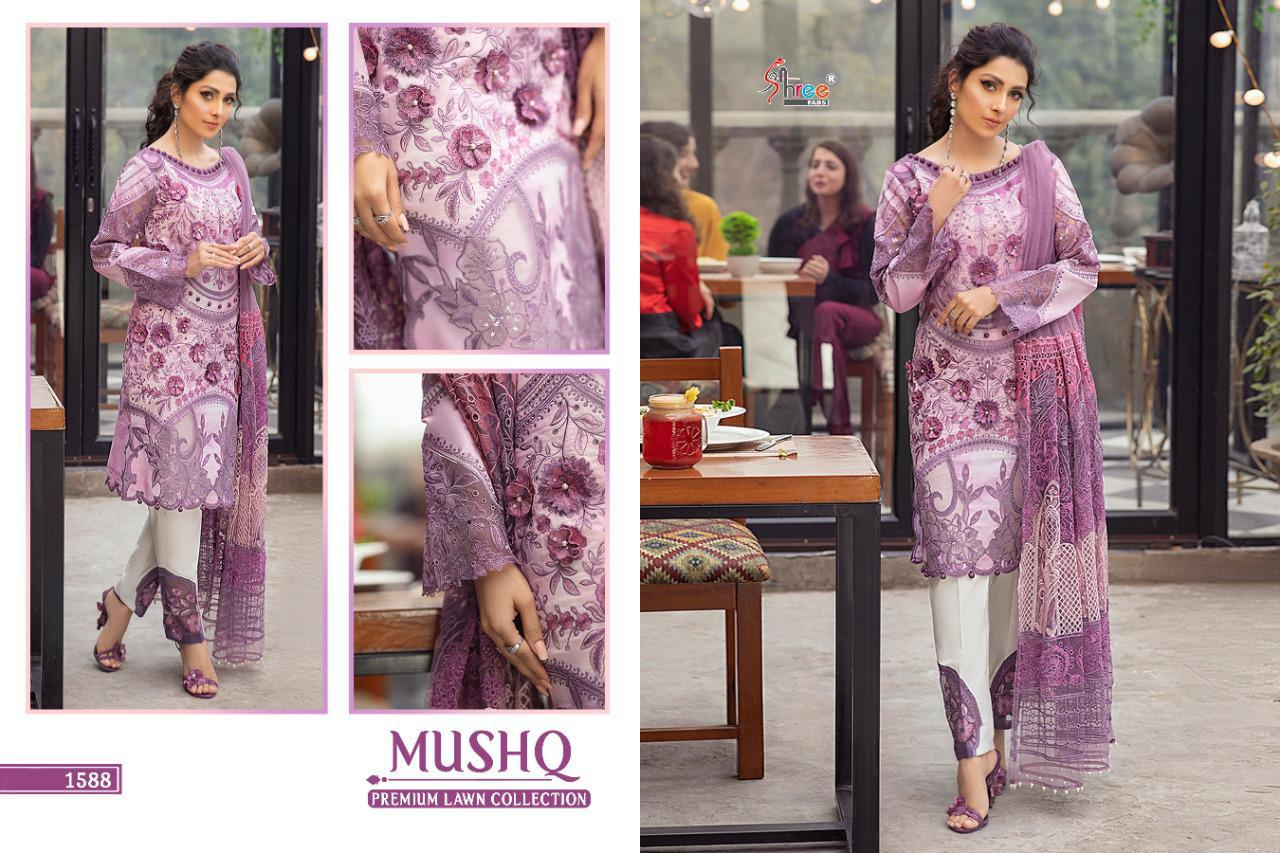 Shree Fabs Mushq Premium Lawn Collection Salwar Suit Wholesale Catalog 5 Pcs 7 - Shree Fabs Mushq Premium Lawn Collection Salwar Suit Wholesale Catalog 5 Pcs