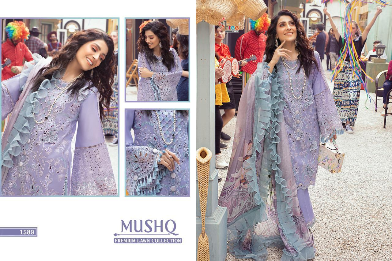 Shree Fabs Mushq Premium Lawn Collection Salwar Suit Wholesale Catalog 5 Pcs 8 - Shree Fabs Mushq Premium Lawn Collection Salwar Suit Wholesale Catalog 5 Pcs