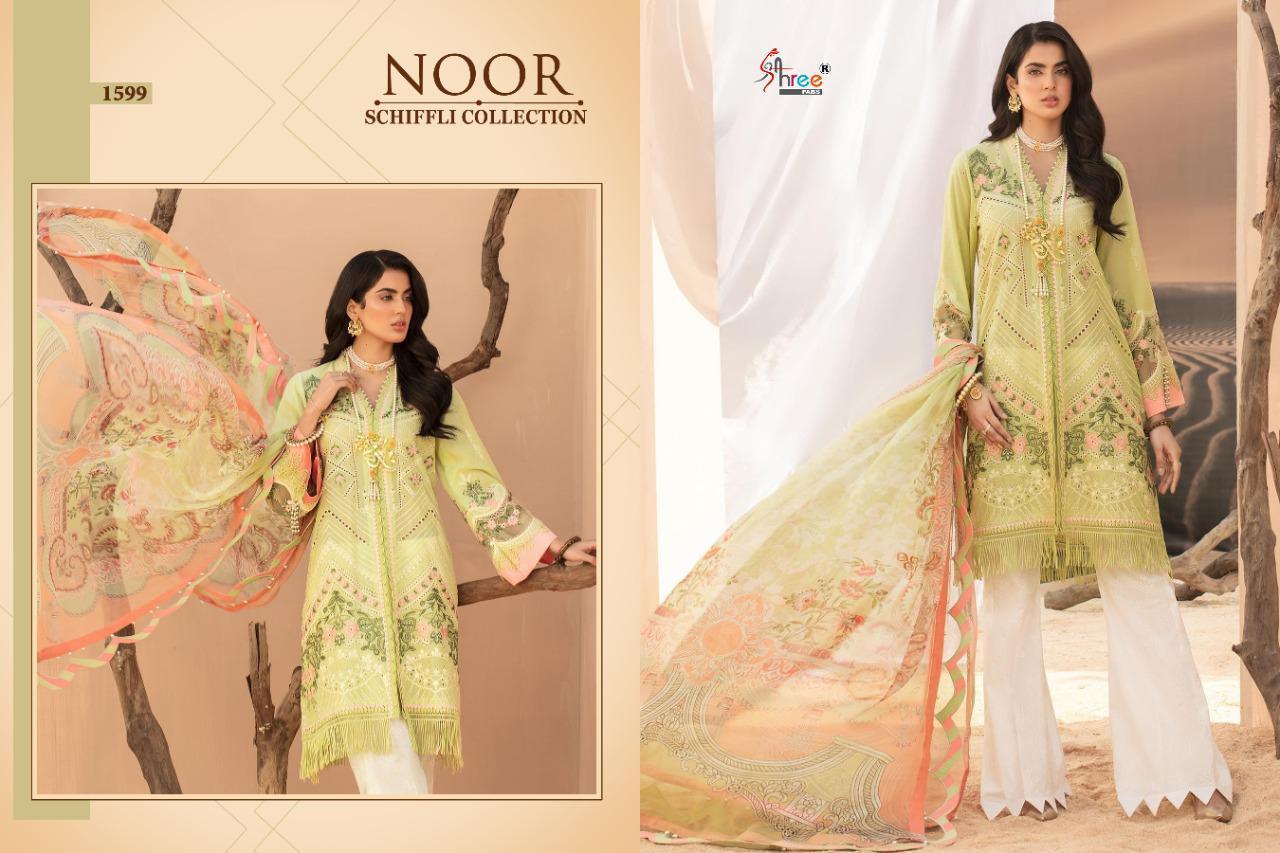 Shree Fabs Noor Schiffli Collection Salwar Suit Wholesale Catalog 4 Pcs 1 - Shree Fabs Noor Schiffli Collection Salwar Suit Wholesale Catalog 4 Pcs