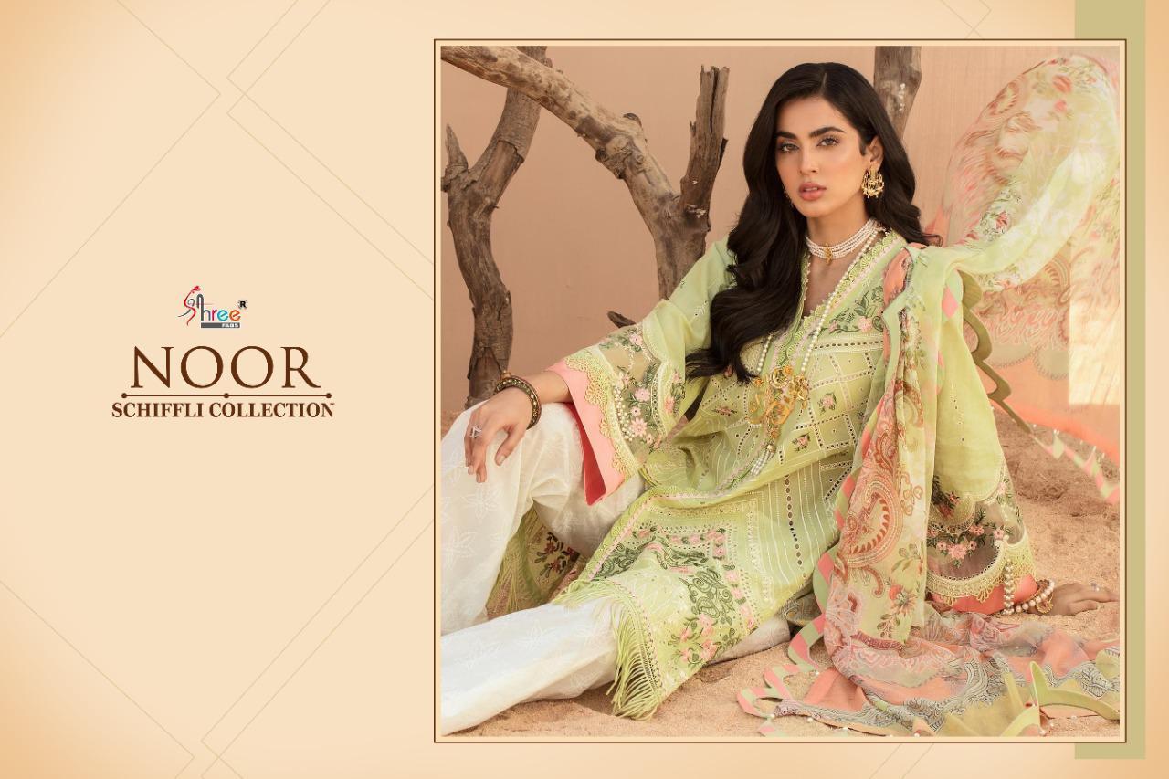 Shree Fabs Noor Schiffli Collection Salwar Suit Wholesale Catalog 4 Pcs 2 - Shree Fabs Noor Schiffli Collection Salwar Suit Wholesale Catalog 4 Pcs