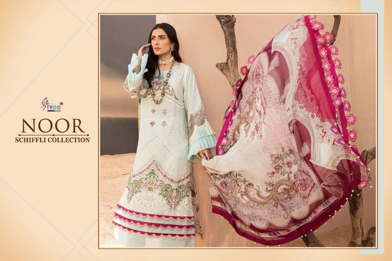 Shree Fabs Noor Schiffli Collection Salwar Suit Wholesale Catalog 4 Pcs 3 - Shree Fabs Noor Schiffli Collection Salwar Suit Wholesale Catalog 4 Pcs