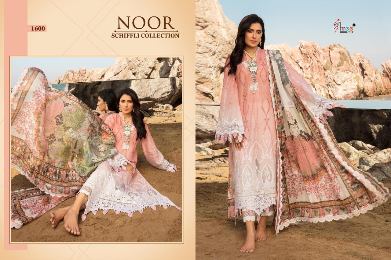 Shree Fabs Noor Schiffli Collection Salwar Suit Wholesale Catalog 4 Pcs 4 - Shree Fabs Noor Schiffli Collection Salwar Suit Wholesale Catalog 4 Pcs