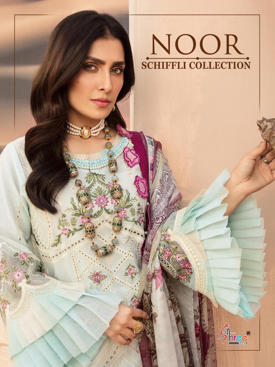 Shree Fabs Noor Schiffli Collection Salwar Suit Wholesale Catalog 4 Pcs 6 - Shree Fabs Noor Schiffli Collection Salwar Suit Wholesale Catalog 4 Pcs