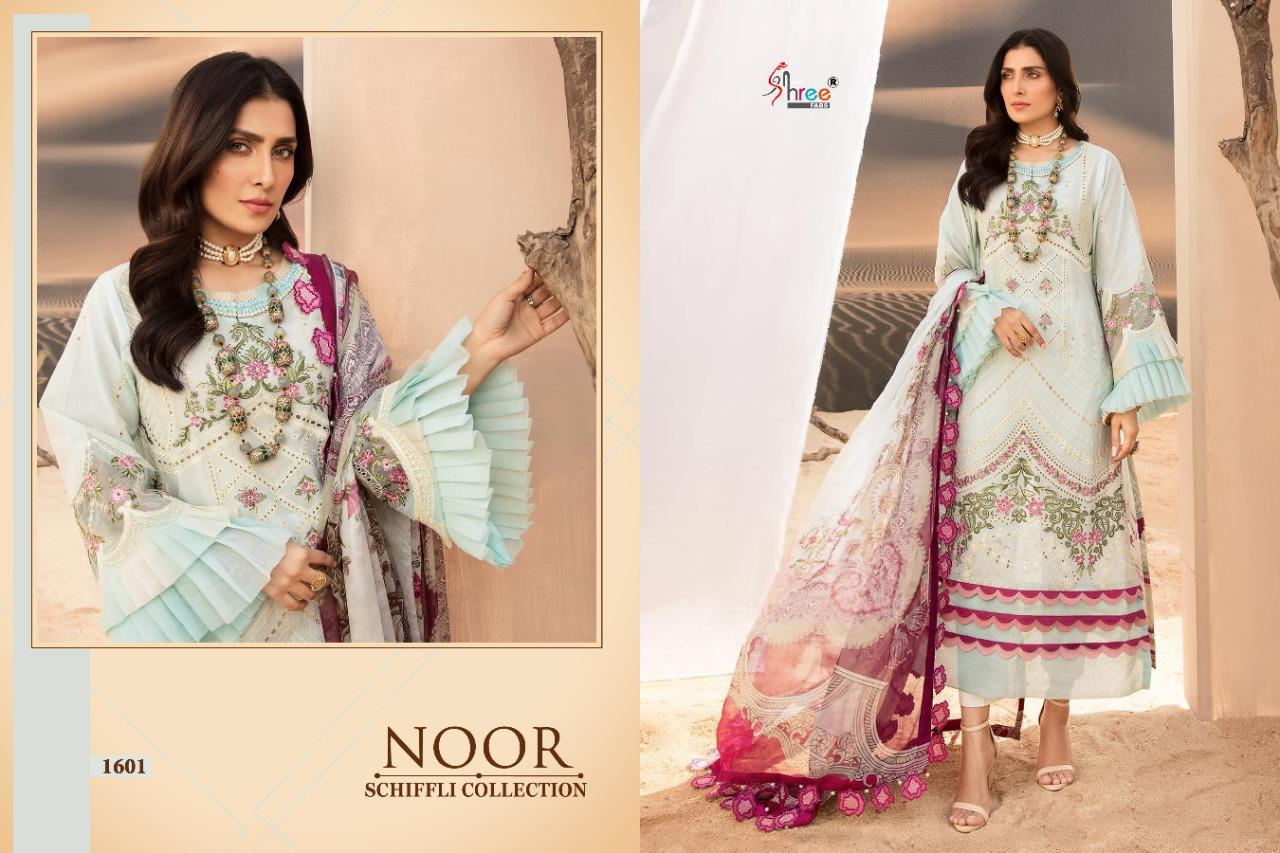 Shree Fabs Noor Schiffli Collection Salwar Suit Wholesale Catalog 4 Pcs 8 - Shree Fabs Noor Schiffli Collection Salwar Suit Wholesale Catalog 4 Pcs