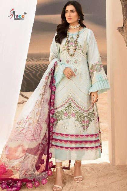 Shree Fabs Noor Schiffli Collection Salwar Suit Wholesale Catalog 4 Pcs