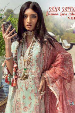 Shree Fabs Sana Safinaz Premium Lawn Collection Vol 3 Salwar Suit Wholesale Catalog 8 Pcs