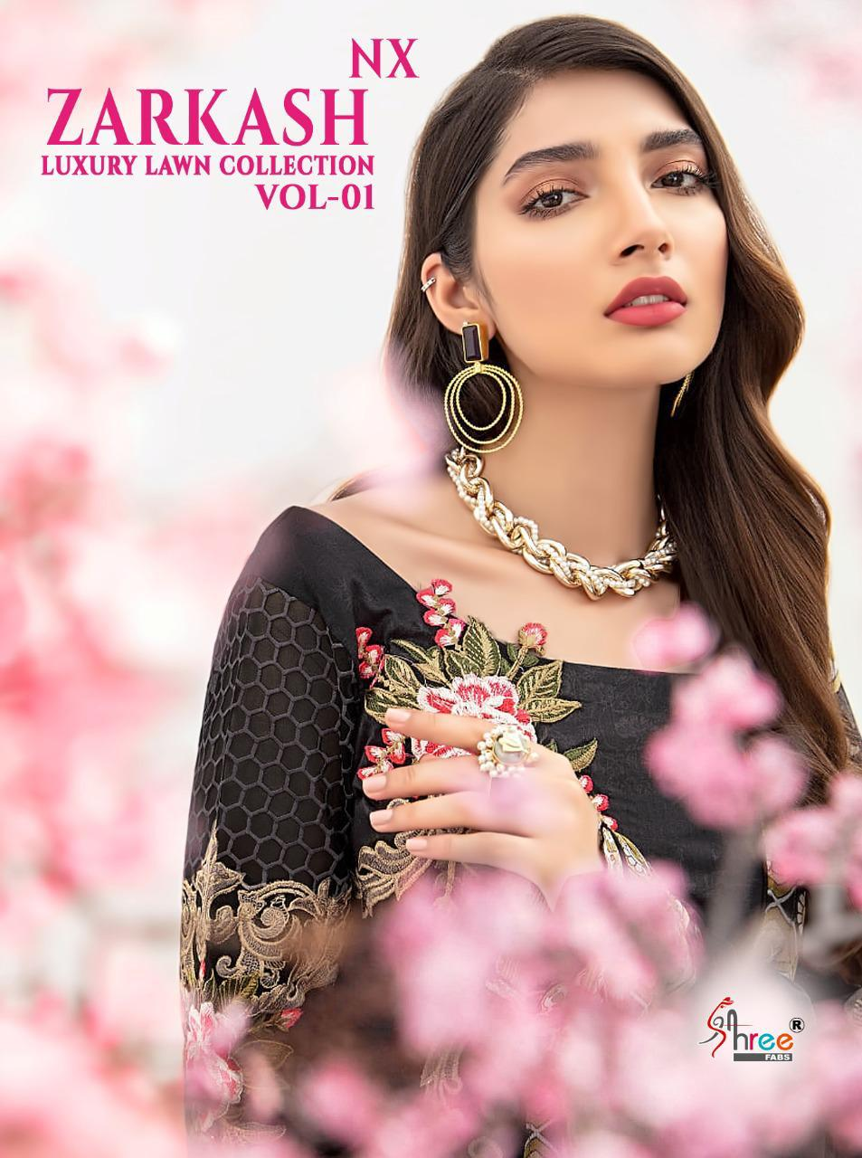 Shree Fabs Zarkash Luxury Lawn Collection Vol 1 Nx Salwar Suit Wholesale Catalog 3 Pcs 1 - Shree Fabs Zarkash Luxury Lawn Collection Vol 1 Nx Salwar Suit Wholesale Catalog 3 Pcs