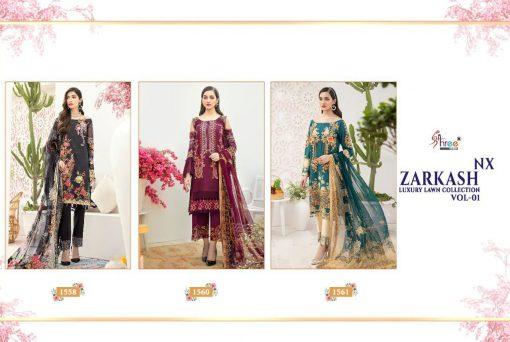 Shree Fabs Zarkash Luxury Lawn Collection Vol 1 Nx Salwar Suit Wholesale Catalog 3 Pcs 5 510x342 - Shree Fabs Zarkash Luxury Lawn Collection Vol 1 Nx Salwar Suit Wholesale Catalog 3 Pcs