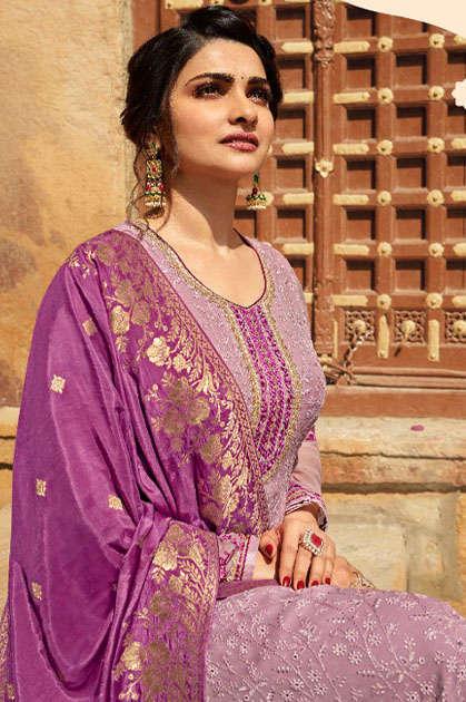 Vinay Kaseesh Moon Prachi Desai Salwar Suit Wholesale Catalog 7 Pcs
