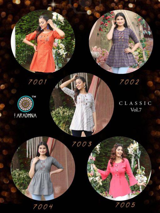 Aradhna Classic Vol 7 Tops Wholesale Catalog 10 Pcs 16 510x680 - Aradhna Classic Vol 7 Tops Wholesale Catalog 10 Pcs