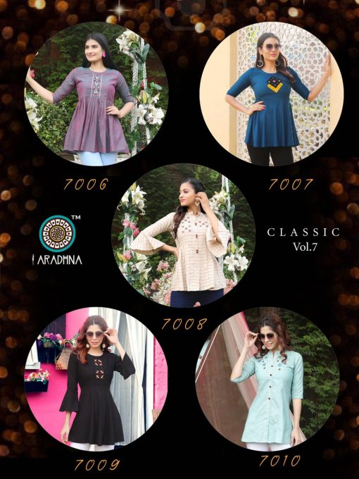 Aradhna Classic Vol 7 Tops Wholesale Catalog 10 Pcs 17 510x680 - Aradhna Classic Vol 7 Tops Wholesale Catalog 10 Pcs