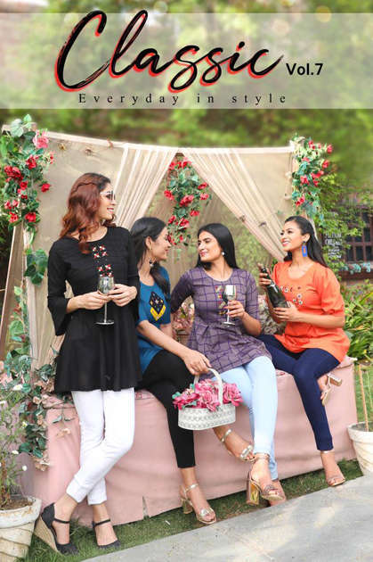 Aradhna Classic Vol 7 Tops Wholesale Catalog 10 Pcs