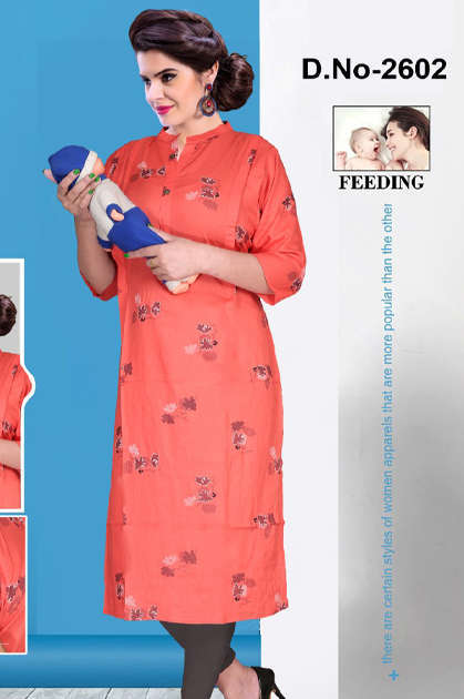 Avashya Inkline Feeding Kurtis Vol 7 Wholesale Catalog 6 Pcs