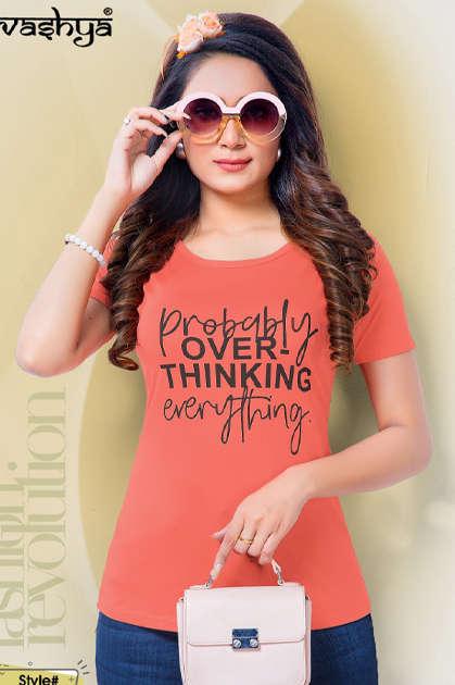 Avashya Retro Solids T-Shirt Wholesale Catalog 10 Pcs