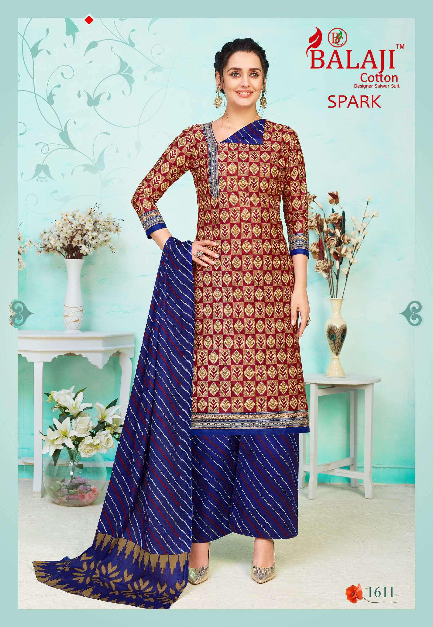 Balaji Cotton Spark Vol 16 Salwar Suit Wholesale Catalog 16 Pcs 11 - Balaji Cotton Spark Vol 16 Salwar Suit Wholesale Catalog 16 Pcs