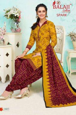 Balaji Cotton Spark Vol 16 Salwar Suit Wholesale Catalog 16 Pcs