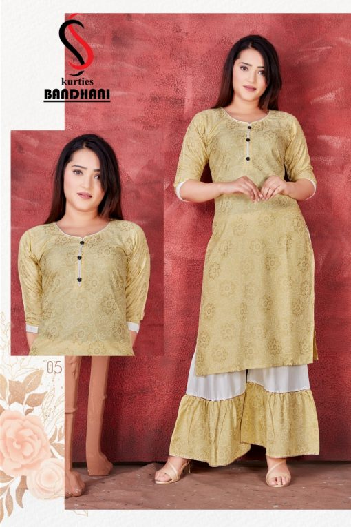 Bandhani Kurti with Sharara Wholesale Catalog 8 Pcs 1 510x765 - Bandhani Kurti with Sharara Wholesale Catalog 8 Pcs