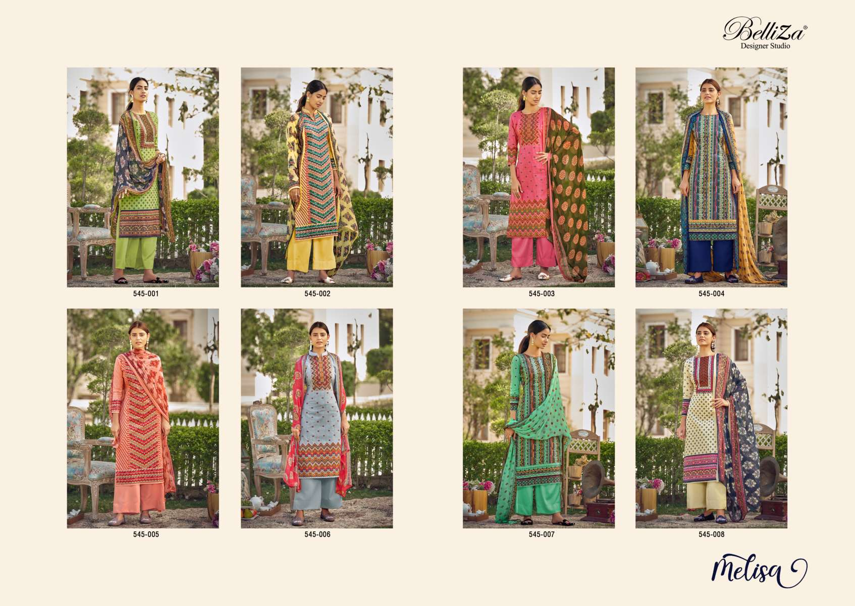 Belliza Melisa Salwar Suit Wholesale Catalog 8 Pcs 12 - Belliza Melisa Salwar Suit Wholesale Catalog 8 Pcs