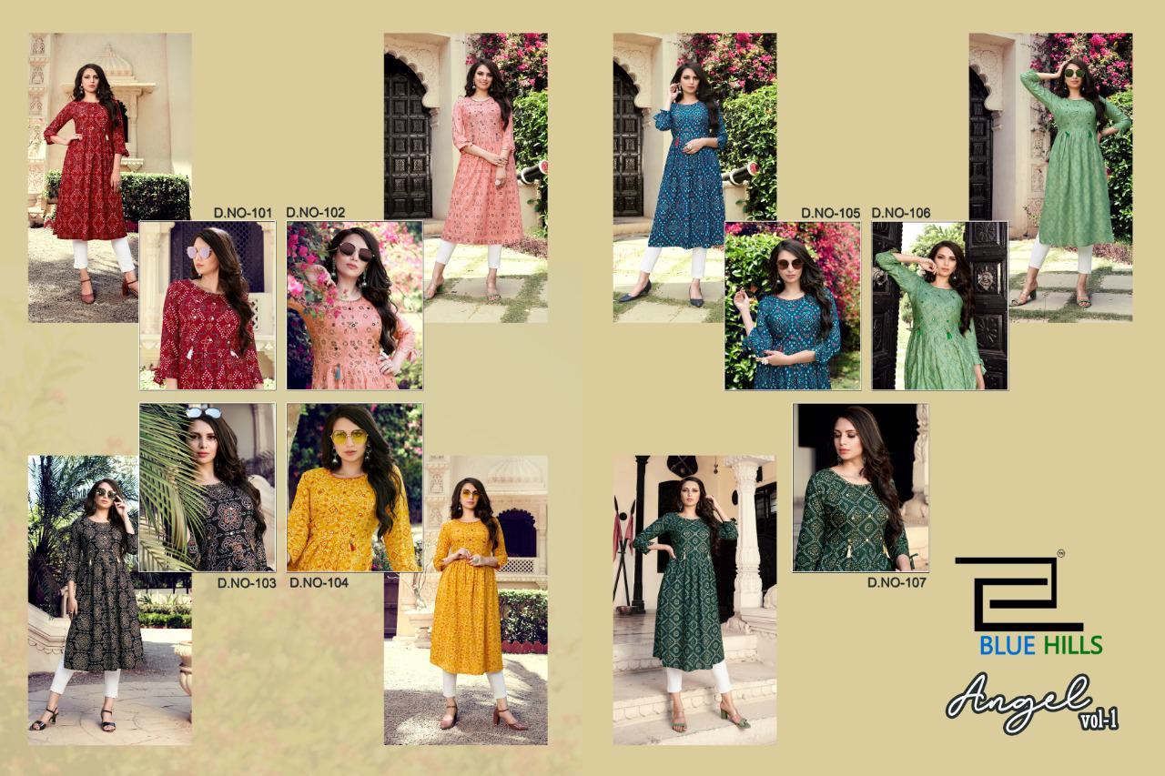 Blue Hills Angel Vol 1 Kurti Wholesale Catalog 7 Pcs 9 - Blue Hills Angel Vol 1 Kurti Wholesale Catalog 7 Pcs