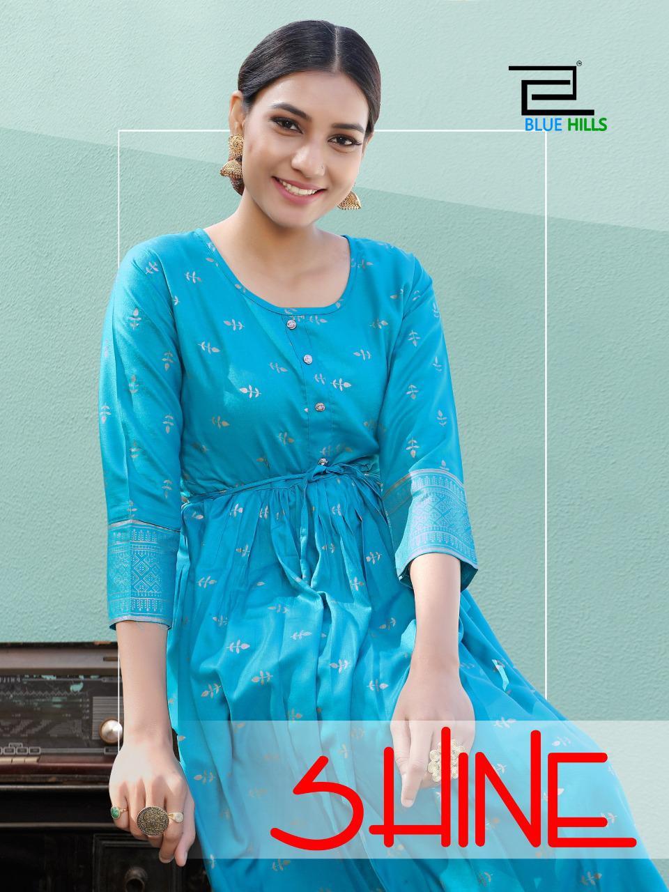 Blue Hills Shine Kurti Wholesale Catalog 10 Pcs 10 - Blue Hills Shine Kurti Wholesale Catalog 10 Pcs
