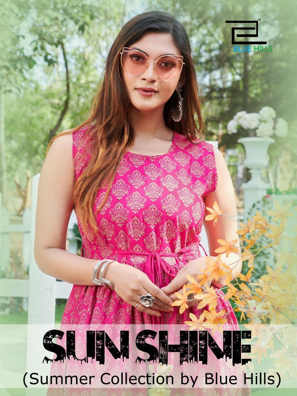 Blue Hills Sun Shine Kurti Wholesale Catalog 8 Pcs 1 - Blue Hills Sun Shine Kurti Wholesale Catalog 8 Pcs