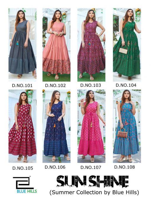 Blue Hills Sun Shine Kurti Wholesale Catalog 8 Pcs 11 510x680 - Blue Hills Sun Shine Kurti Wholesale Catalog 8 Pcs
