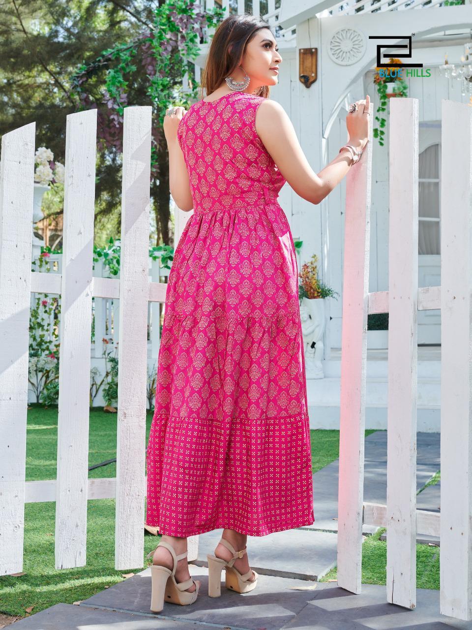 Blue Hills Sun Shine Kurti Wholesale Catalog 8 Pcs 9 - Blue Hills Sun Shine Kurti Wholesale Catalog 8 Pcs