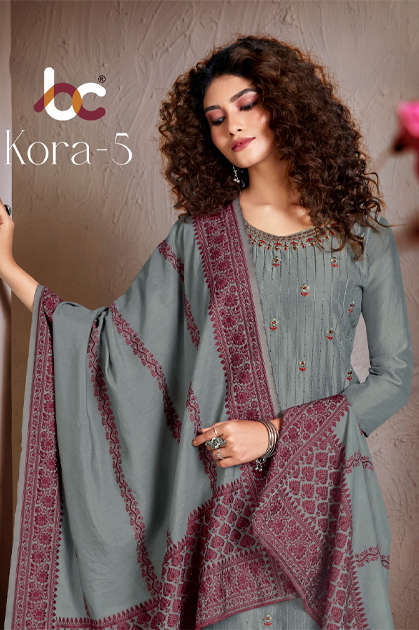 Brij Kora Vol 5 Salwar Suit Wholesale Catalog 8 Pcs