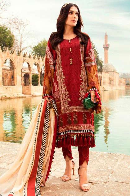 Deepsy Maria B Lawn 21 Vol 2 Salwar Suit Wholesale Catalog 8 Pcs