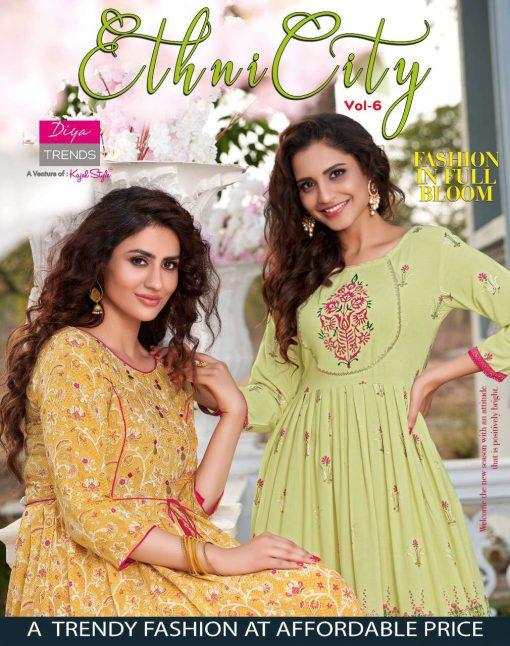 Diya Trends Ethnicity Vol 6 by Kajal Style Kurti Wholesale Catalog 10 Pcs 1 510x646 - Diya Trends Ethnicity Vol 6 by Kajal Style Kurti Wholesale Catalog 10 Pcs