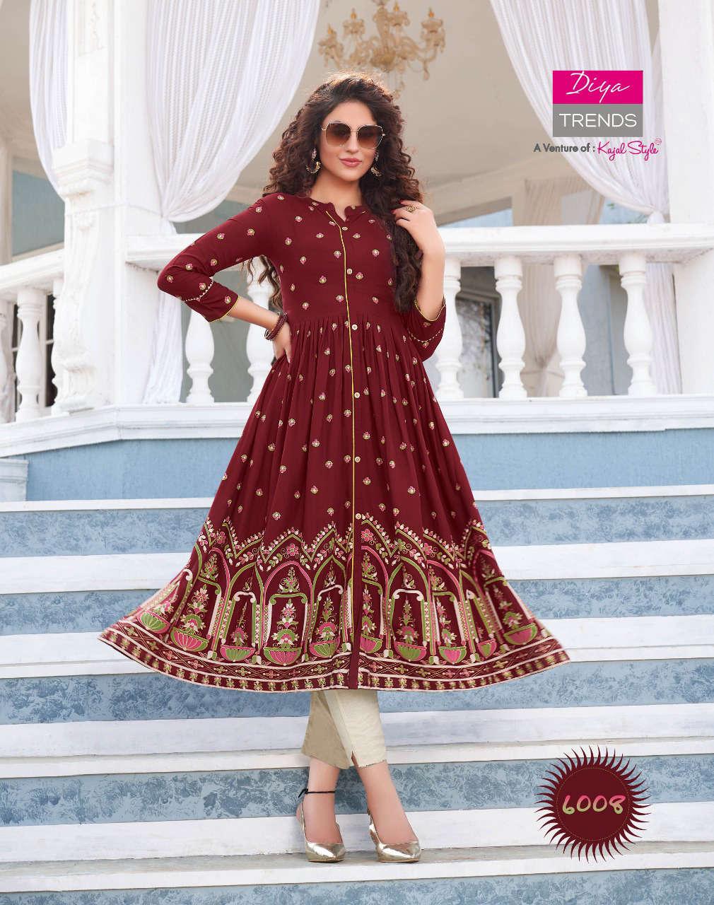 Diya Trends Ethnicity Vol 6 by Kajal Style Kurti Wholesale Catalog 10 Pcs 11 - Diya Trends Ethnicity Vol 6 by Kajal Style Kurti Wholesale Catalog 10 Pcs