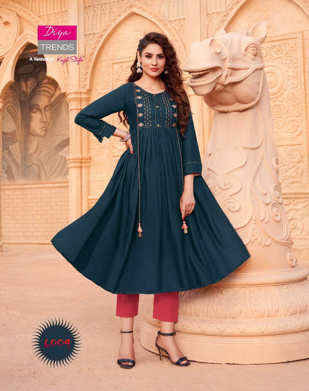 Diya Trends Ethnicity Vol 6 by Kajal Style Kurti Wholesale Catalog 10 Pcs 12 - Diya Trends Ethnicity Vol 6 by Kajal Style Kurti Wholesale Catalog 10 Pcs