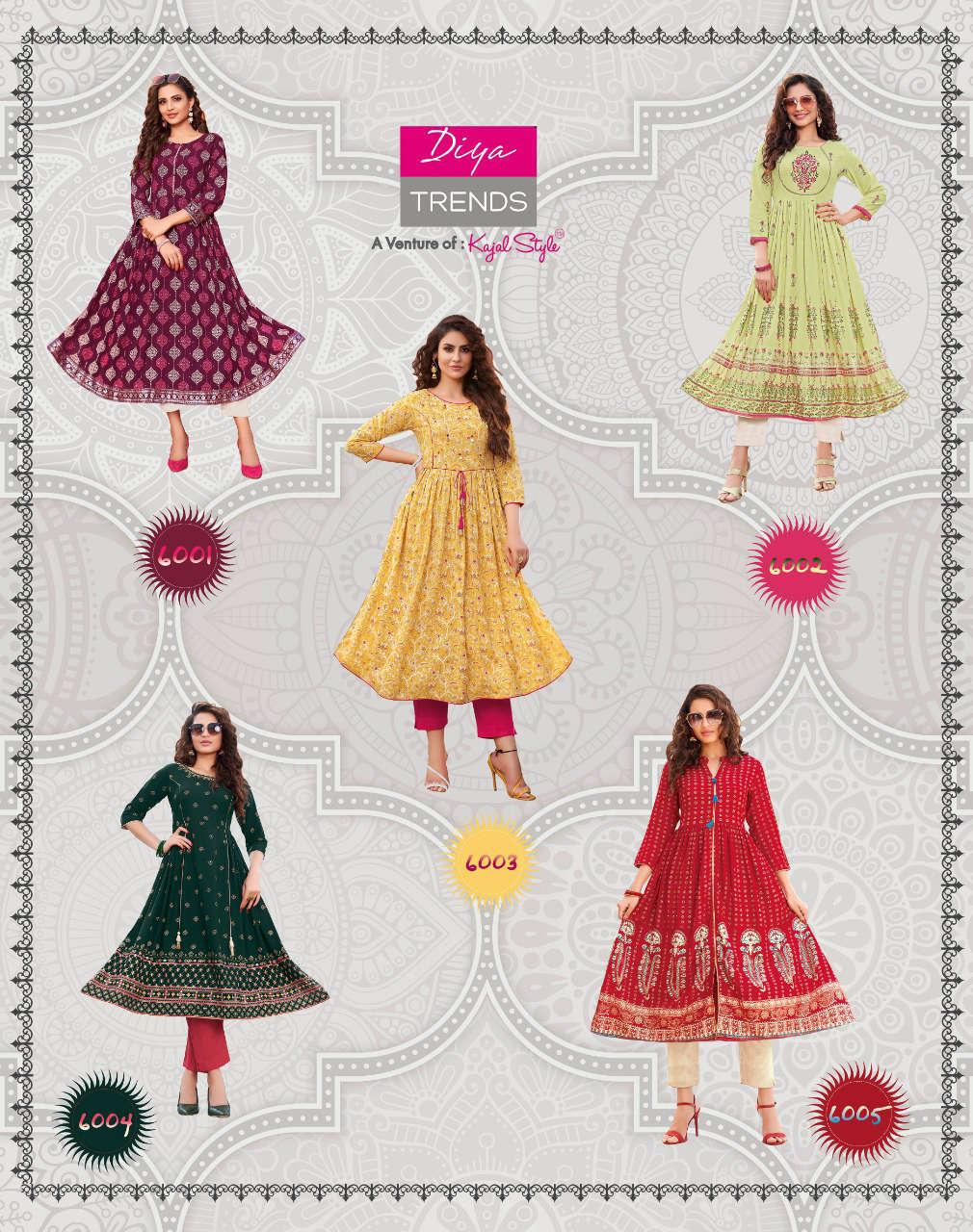 Diya Trends Ethnicity Vol 6 by Kajal Style Kurti Wholesale Catalog 10 Pcs 14 - Diya Trends Ethnicity Vol 6 by Kajal Style Kurti Wholesale Catalog 10 Pcs