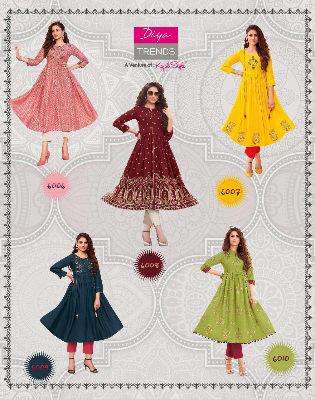 Diya Trends Ethnicity Vol 6 by Kajal Style Kurti Wholesale Catalog 10 Pcs 15 - Diya Trends Ethnicity Vol 6 by Kajal Style Kurti Wholesale Catalog 10 Pcs