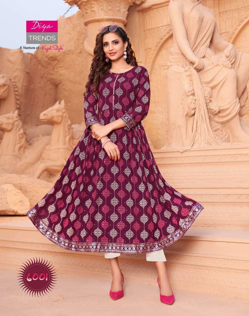 Diya Trends Ethnicity Vol 6 by Kajal Style Kurti Wholesale Catalog 10 Pcs 2 - Diya Trends Ethnicity Vol 6 by Kajal Style Kurti Wholesale Catalog 10 Pcs