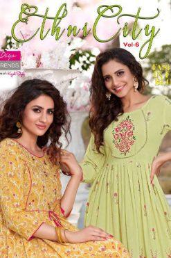 Diya Trends Ethnicity Vol 6 by Kajal Style Kurti Wholesale Catalog 10 Pcs