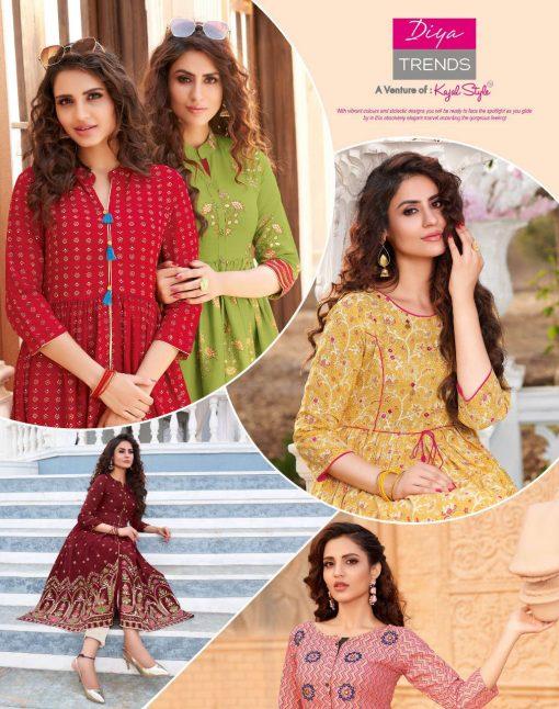 Diya Trends Ethnicity Vol 6 by Kajal Style Kurti Wholesale Catalog 10 Pcs 4 510x646 - Diya Trends Ethnicity Vol 6 by Kajal Style Kurti Wholesale Catalog 10 Pcs