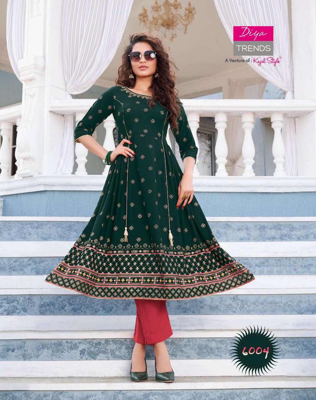 Diya Trends Ethnicity Vol 6 by Kajal Style Kurti Wholesale Catalog 10 Pcs 6 - Diya Trends Ethnicity Vol 6 by Kajal Style Kurti Wholesale Catalog 10 Pcs