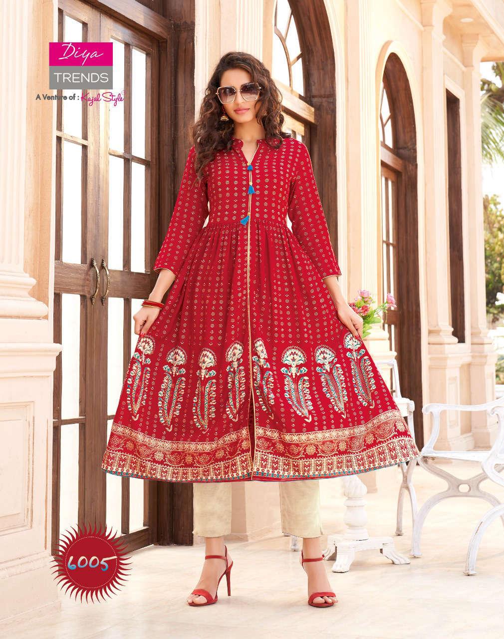 Diya Trends Ethnicity Vol 6 by Kajal Style Kurti Wholesale Catalog 10 Pcs 7 - Diya Trends Ethnicity Vol 6 by Kajal Style Kurti Wholesale Catalog 10 Pcs