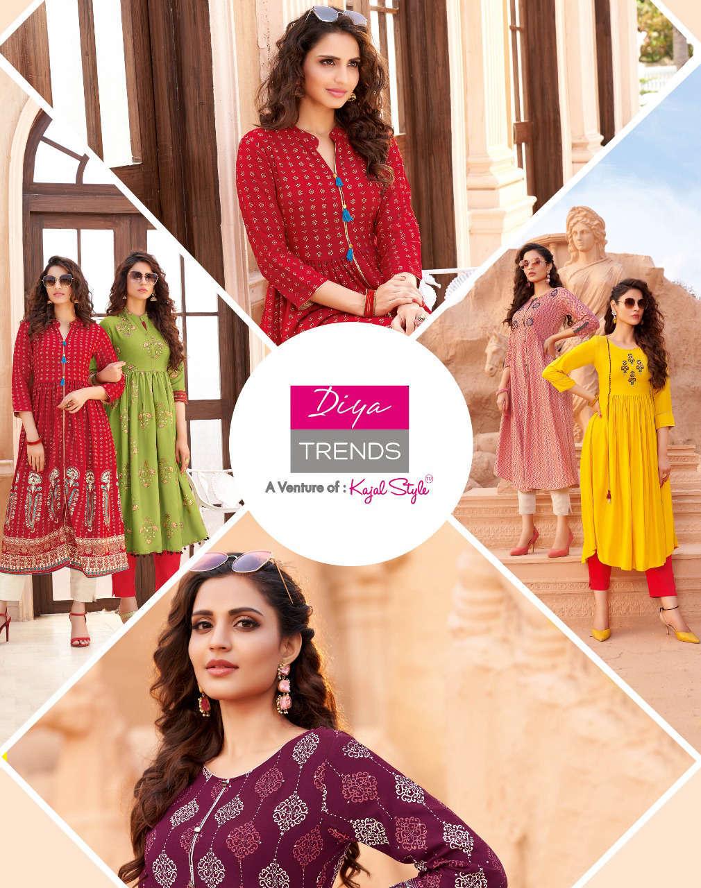 Diya Trends Ethnicity Vol 6 by Kajal Style Kurti Wholesale Catalog 10 Pcs 8 - Diya Trends Ethnicity Vol 6 by Kajal Style Kurti Wholesale Catalog 10 Pcs