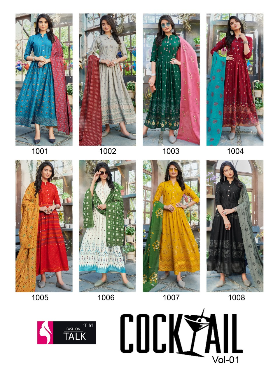 Fashion Talk Cocktail Vol 1 Kurti with Dupatta Wholesale Catalog 8 Pcs 23 - Fashion Talk Cocktail Vol 1 Kurti with Dupatta Wholesale Catalog 8 Pcs