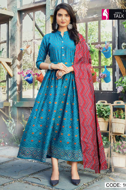 Fashion Talk Cocktail Vol 1 Kurti with Dupatta Wholesale Catalog 8 Pcs